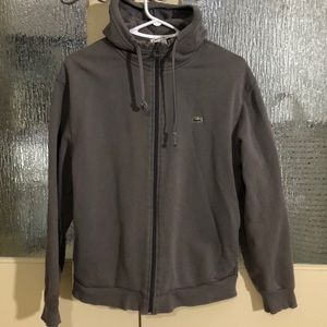 Lacoste men's small hoodie gray